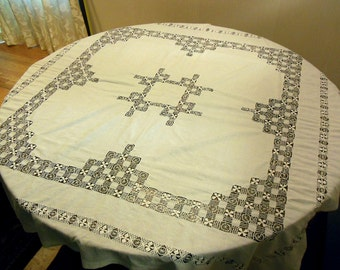 57in Square, 1900s Hand Made Table Cloth