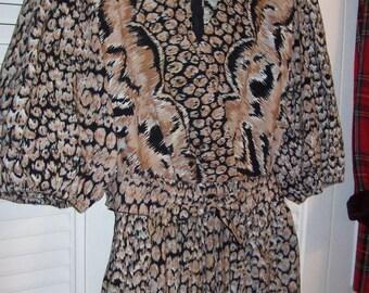 Vintage Victor Costa for Sakowitz Fantastic Transitional Cotton Dress. Size 12
