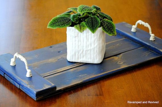 Wooden tray serving platter centerpiece vanity