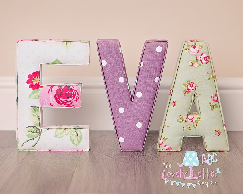 fabric covered letters for nursery - handmade fabric letters nursery decor new by thelovelyletterco