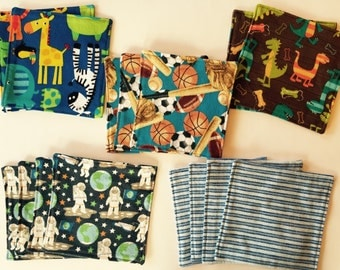 Reusable Flannel Wipes or Washcloths, 15 quantity
