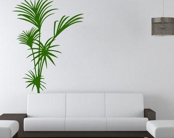 Wall Decal, Yukka Plant Decal, Palm Tree Decal, Bedroom Wall Art