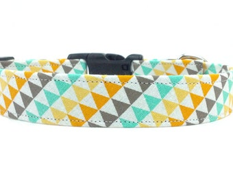 Colorful Tribal Triangles Southwest Dog Collar
