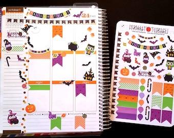 Halloween, Fits Erin Condren® and others, Planner Stickers, Kiss Cut, Calendar Stickers, Life Planner™ Stickers, Scrapbooking, Owls