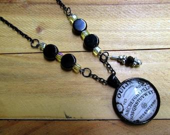 Ouija Board Glass Pendant Necklace