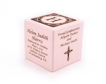 Personalized Baptism Gift Girl Baptism Boy Gift Engraved Wooden Block Dedication Gift Christening Gift Religious Ceremony Baby's Baptism
