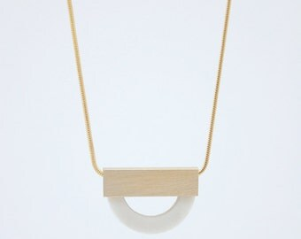 FORMA n.4 // White Porcelain Necklace
