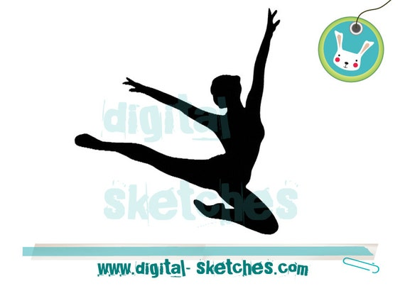 Ballerina Embroidery Design Silhouette Ballet By