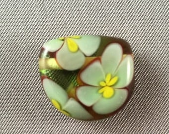 Czech Glass Floral Pendant