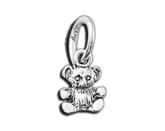 Five (5) Tiny Teddy Bear .925 Sterling Silver Charms