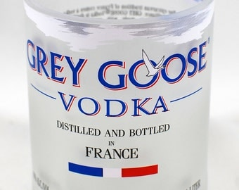 Grey Goose 'Rocks' Glasses - Handcrafted from Recycled Vodka Bottles