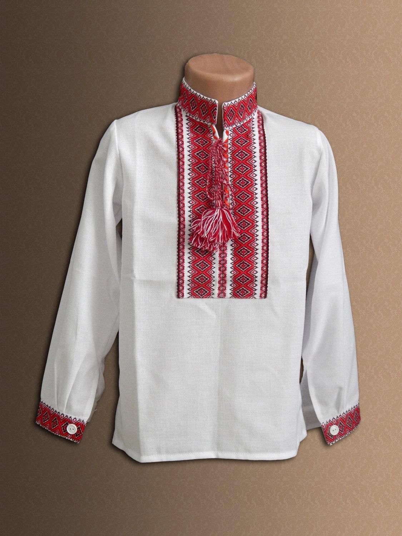 Ukrainian embroidered shirt for boys baby