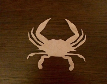 Maryland Blue Crab Wood Cutout, Nautical Crab