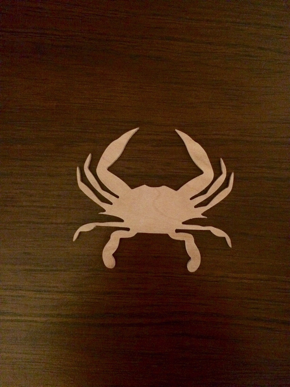 Maryland Blue Crab Wood Cutout Nautical Crab