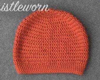 Slouchy Hat in Orange