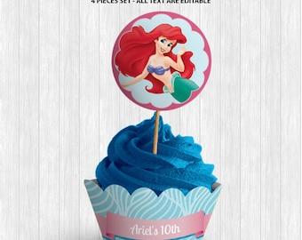 The Little Mermaid Cupcake Decor