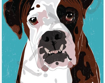 """Boxer 8"""" x 10"""" Photo Print with 1/8"""" border for framing"""