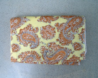 Paisley Yellow Gold Vintage Fabric
