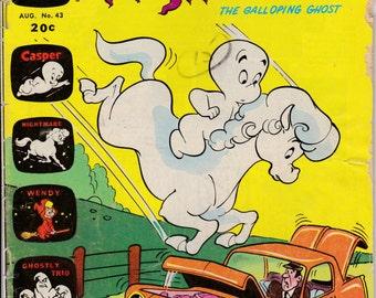 Casper and Nightmare #43 - August 1973 Issue - Harvey Comics - Grade G