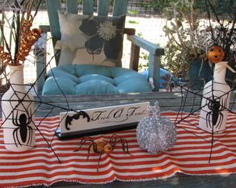 Halloween Table Centerpiece Halloween Table Decor Spider Centerpiece Halloween Table Runner Trick Or Treat Table Centerpiece Spider Web