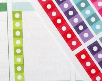 Circle Checklists Planner Stickers for Erin Condren Planner, Filofax, Plum Paper
