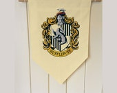 Harry Potter Hufflepuff House - Wall Hanging Banner Flag Fabric Cotton home decro decro