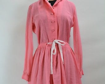 Late 1950s early 1960s Jane Bradley Pink Dress, 1950s dress, 50s dress, dress, 1950s, 1950, 1960, 1960s, 1960s dress, Jane Bradley Dress