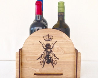 Wine Caddy - for your Favorite Queen Bee's Birthday, Bachelorette Party or Special Occassion