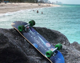 Galaxy Longboards & Skateboards - Hand Painted Unique Graffiti Style