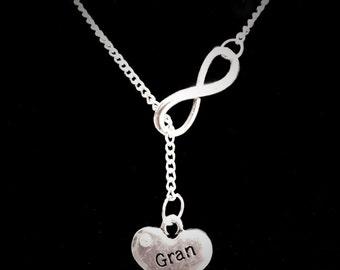 Infinity Gran Grandma Grandmother Granny Nana Forever Gift Y Lariat Necklace