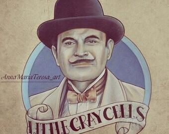 Hercule Poirot Art Print.
