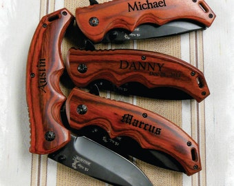 11-20 KNIVES  Engraved Tactical Folding Knife , Groomsmen Gift , Rescue Knife Gift , Rescue Knife, Hunting Knives