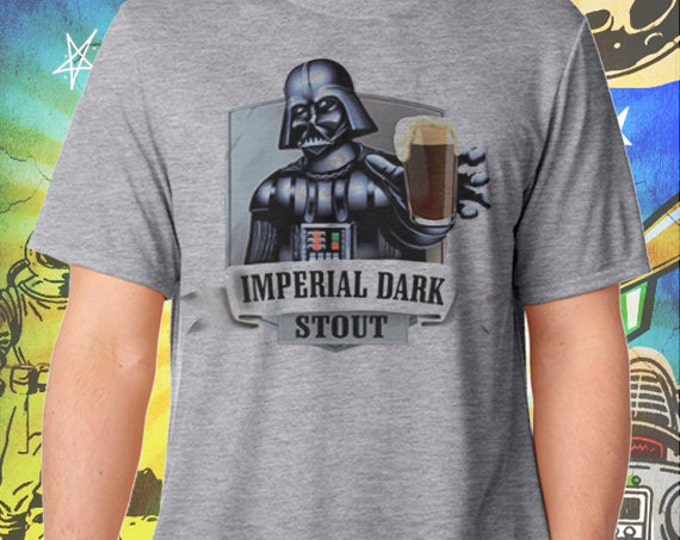 Darth Vader Men's Imperial Dark Stout Men's Gray Tee Craft Beer T Shirt Star Wars Beer T-shirt