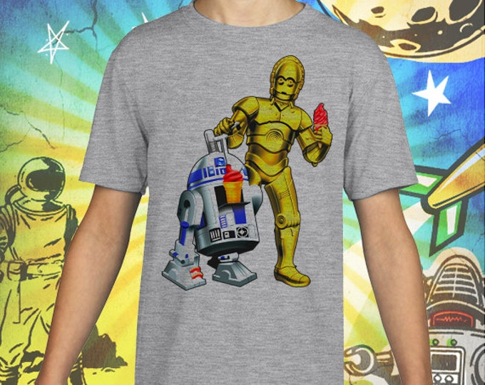 Star Wars R2 / 3PO Dune Sea Soft Ice Cream Gray Kids T-Shirt