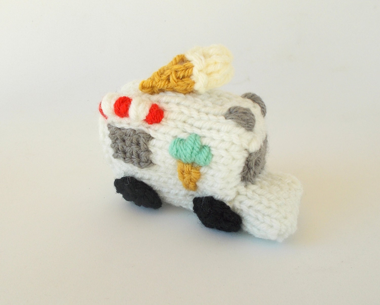 Knitting Patterns Mini Toys : Miniature Ice Cream Truck Knitted Soft Toy Model by ...