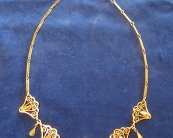 Antique art nouveau gold filled necklace Jugendstil, ca 1900's