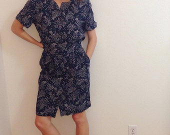 90s two piece set, 90s two piece floral dress, vintage two piece outfit, floral grunge dress, hipster floral, 90s skirt and shirt set