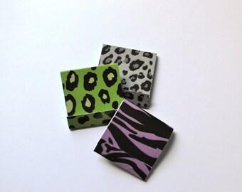 Matchbook Notepads - Animal Print Notepads - Animal Matchbook Notepads - Mini Notepads - Mini Animal Notepads - Safari Notepads - Matchbook