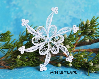 Single snowflake from set ALTA - Paper quilled ornament - Christmas decoration - Handmade gift