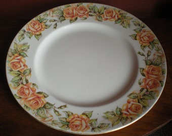 Royal Doulton England, Golden Rose D 6399 Rd. No.31892,plate,dinner plate,collectible,english china