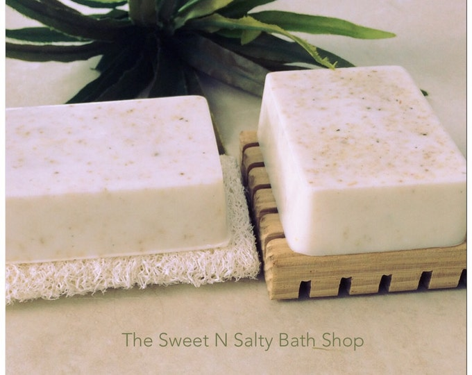 Coconut Milk Shredded Loofah Exfoliating Soap