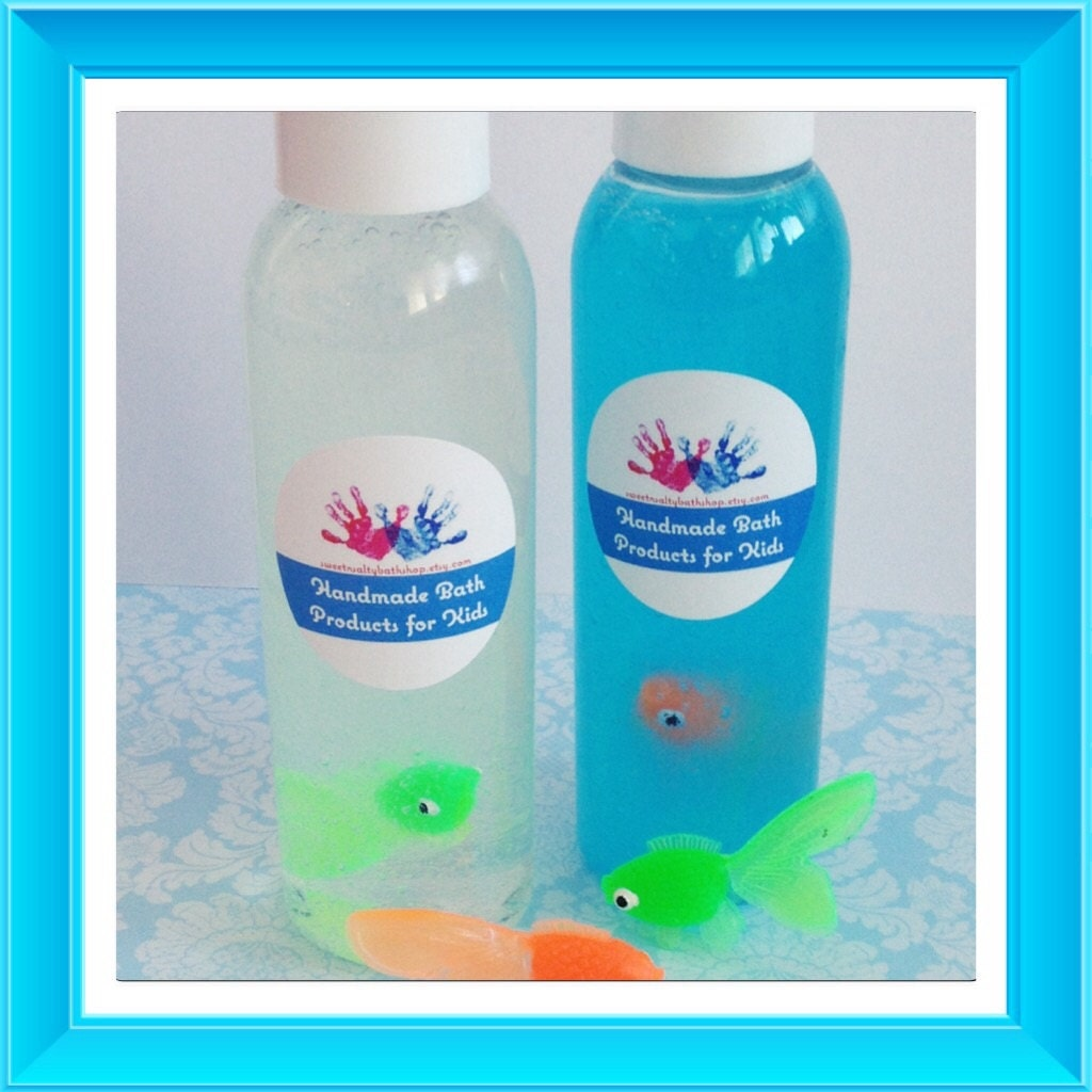 Little fish in a bottle bath and body wash for Salt bath for fish