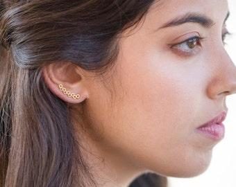 Bubble Ear Pin Earrings