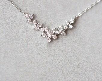 Floral Concave Necklace