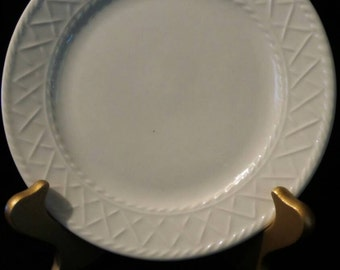 """Salad or Bread Plate by Totally Today© """"Basket Weave"""" Pattern"""