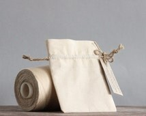 Petite Calico Pouches Set of 10 Handmade Favour Bags Packaging
