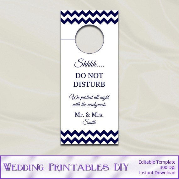items similar to wedding door hanger template diy navy. Black Bedroom Furniture Sets. Home Design Ideas