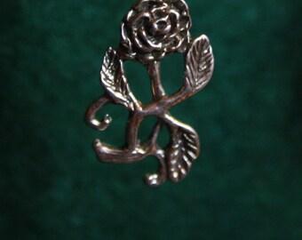 Rose Vine - Sterling Silver Pendant