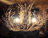 RESERVED FOR SHARON!!! The Shawnee  - Grapevine Chandelier - Chandelier Lighting - Twigs Chandelier - Rustic Chandelier - Branch Chandelier