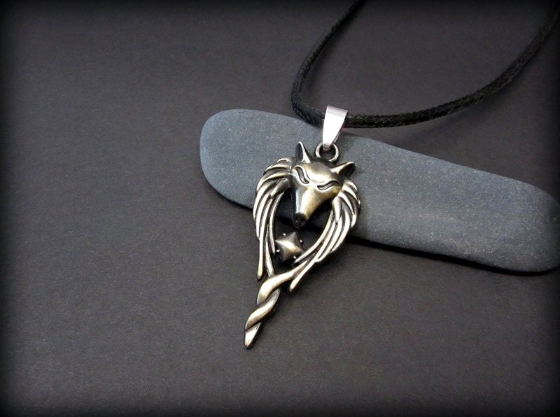 wolf necklace for wolf necklace wolf pendant on